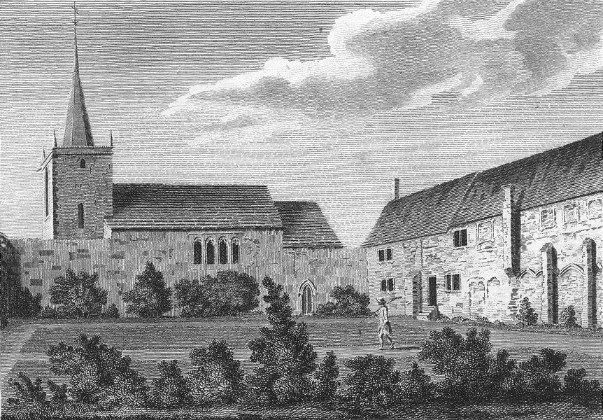 Associate Product SUSSEX. Eastbourne, Priory. Grose 1783 old antique vintage print picture
