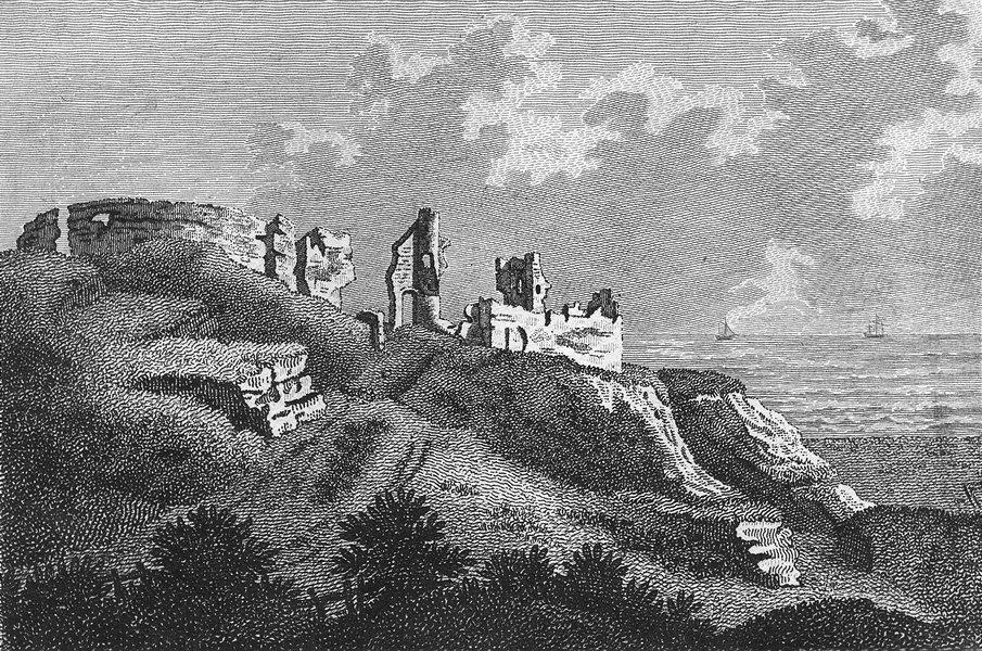 Associate Product SUSSEX. Hastings Castle. Grose 1783 old antique vintage print picture