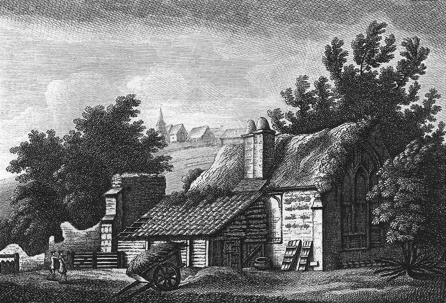 Associate Product SUSSEX. St Jamess Hospital. Grose 1783 old antique vintage print picture