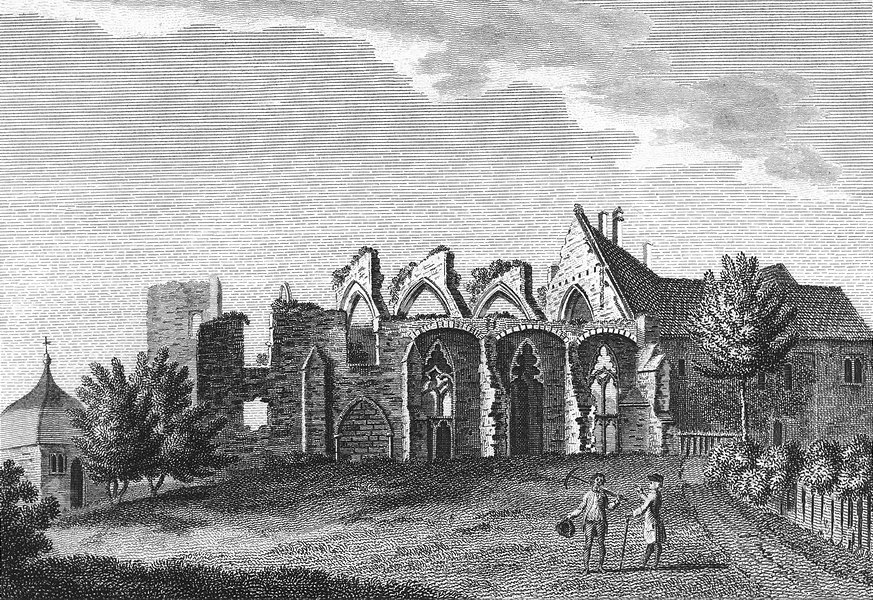 SUSSEX. St Dunstans Palace, Mayfield. Grose 1783 old antique print picture