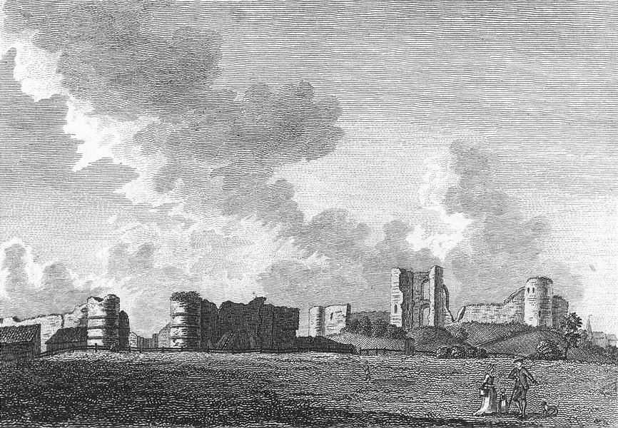 Associate Product SUSSEX. Pevensey Castle. Grose 1783 old antique vintage print picture