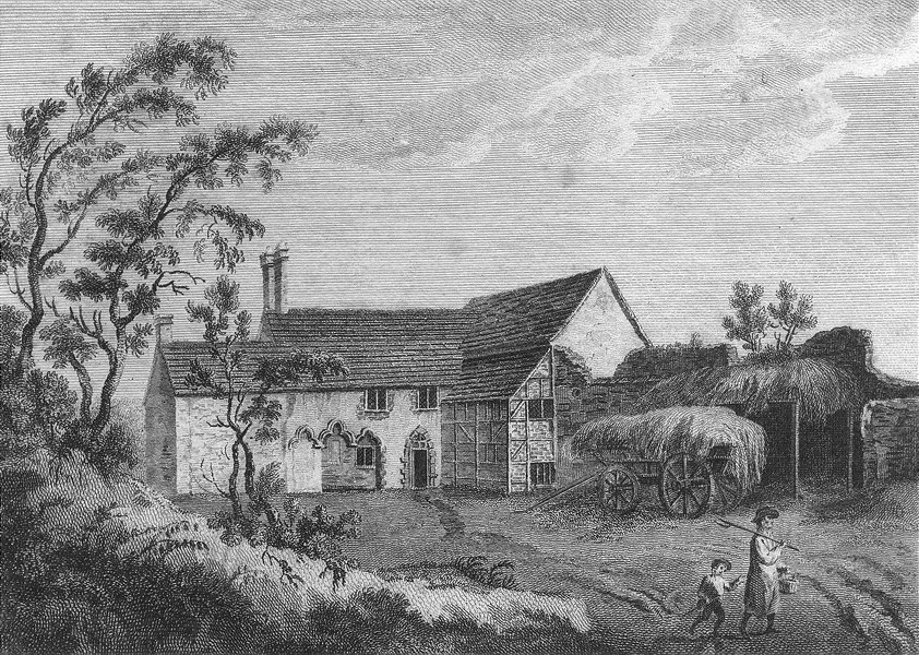 Associate Product SUSSEX. Shelbred Priory. Grose 1783 old antique vintage print picture