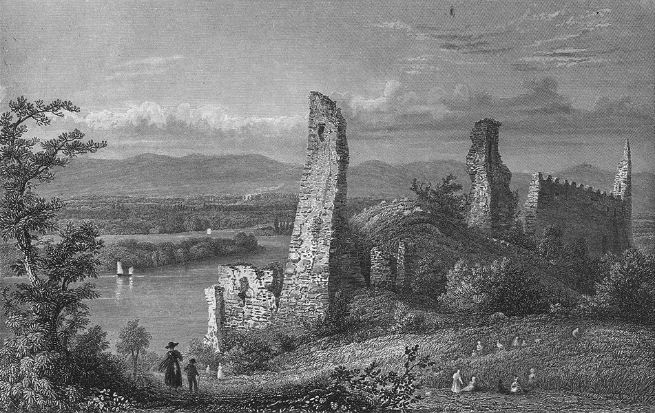 Associate Product GERMANY. Ruins, Limbirg. Tombleson 1830 old antique vintage print picture