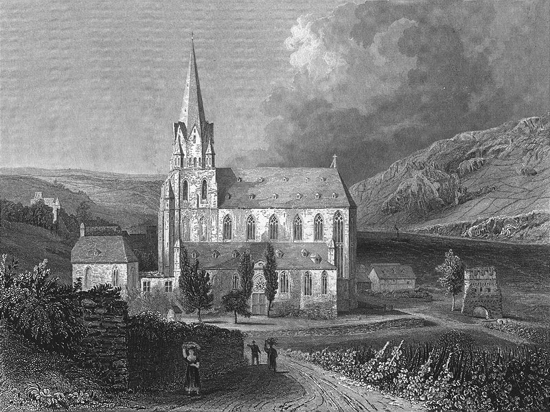 Associate Product GERMANY. Church Virgin Mary, Oberwesel. Tombleson 1830 old antique print