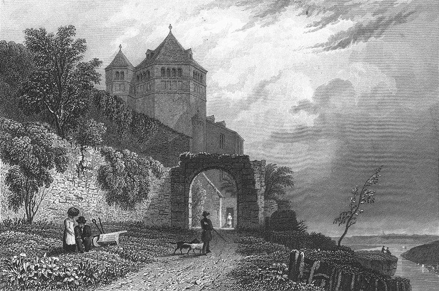 SWITZERLAND. Rheineck Castle. Germany. Tombleson 1830 old antique print