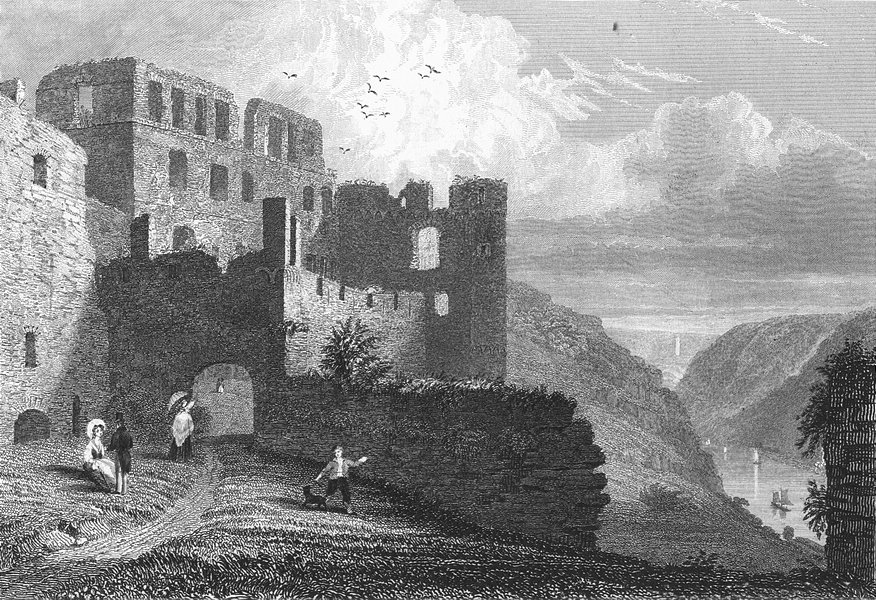 Associate Product GERMANY. Ruins, Rheinfels. Tombleson ruins 1830 old antique print picture