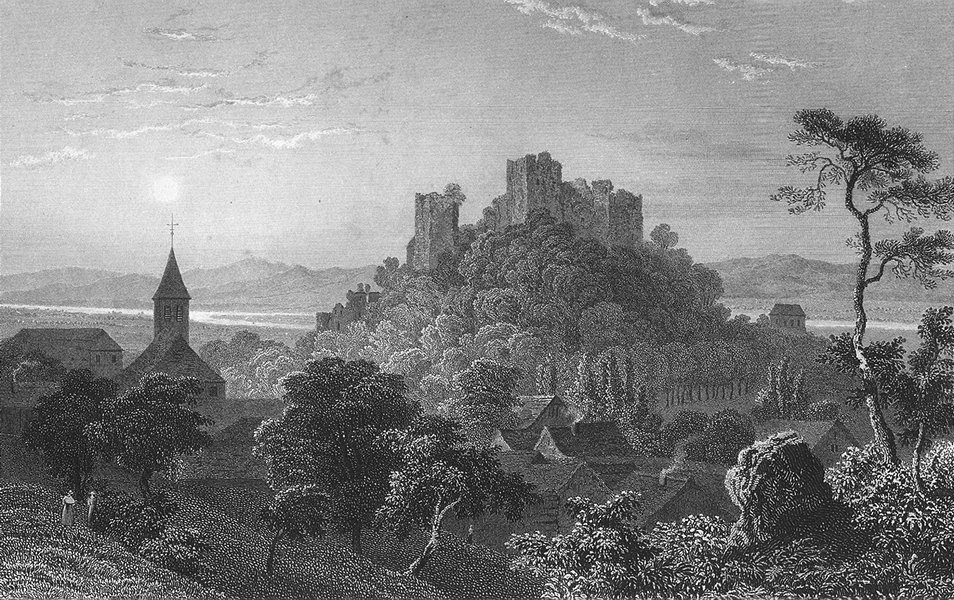 Associate Product GERMANY. Ruins, Badenweiler. Tombleson 1830 old antique vintage print picture