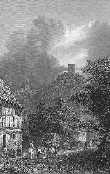 Associate Product BODMIN. Ruins, Frauenburg. Germany. Tombleson 1830 old antique print picture