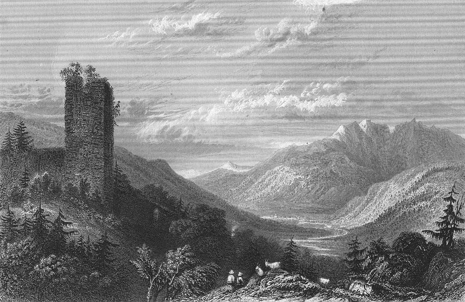 Associate Product GERMANY. Ruins, Walterspurg. Tombleson 1830 old antique vintage print picture