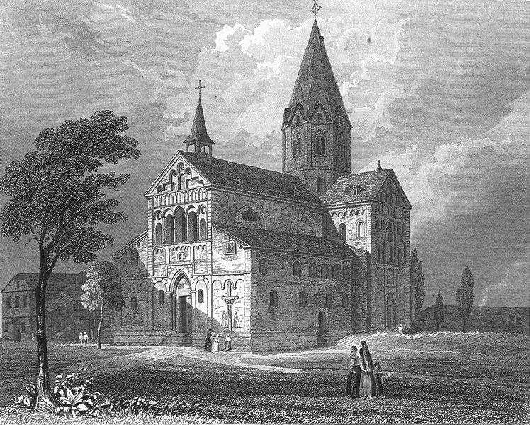 Associate Product GERMANY. Sinzig Church. Tombleson 1830 old antique vintage print picture
