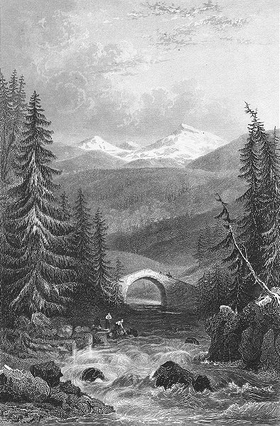 GERMANY. Keystone bridge, Fore Rhine. Tombleson 1830 old antique print picture