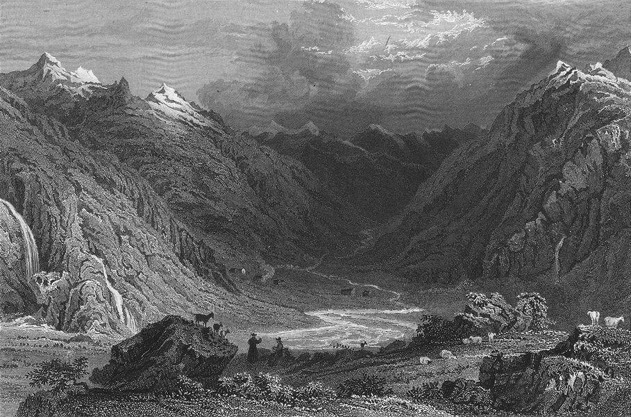 Associate Product GERMANY. Middle Rhine, valley of Curlim. Tombleson 1830 old antique print