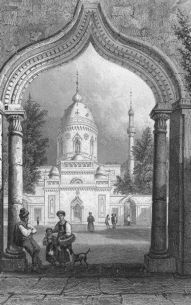 Associate Product GERMANY. Mosque, Schwetzingen. Tombleson Dog 1830 old antique print picture