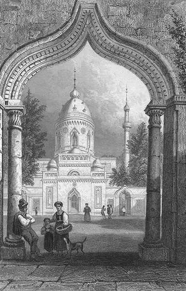 GERMANY. Mosque, Schwetzingen. Tombleson, Dog 1830 old antique print picture