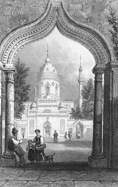 Associate Product GERMANY. Mosque, Schwetzingen. Tombleson, Dog 1830 old antique print picture