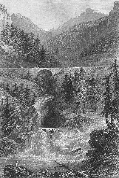 Associate Product GERMANY. Waterfalls, Rofflen. Tombleson 1830 old antique vintage print picture