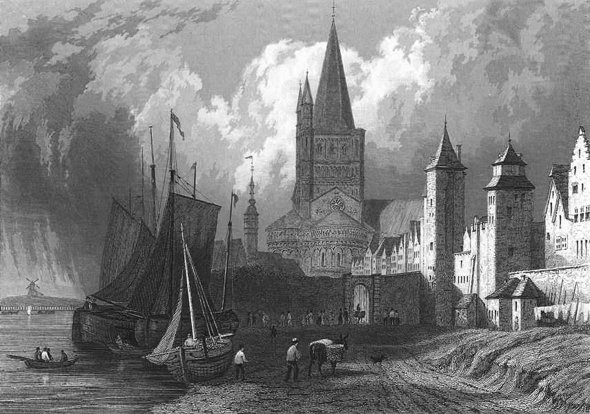 Associate Product GERMANY. St Martins Church Cologne. Tombleson 1830 old antique print picture