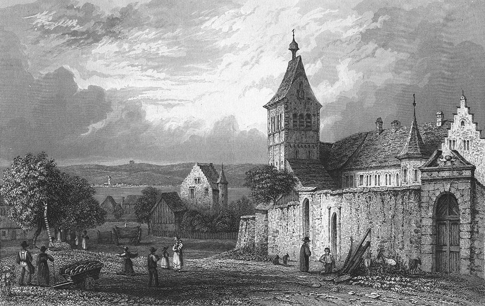 Associate Product GERMANY. Convent of Reichenau. Tombleson 1830 old antique print picture