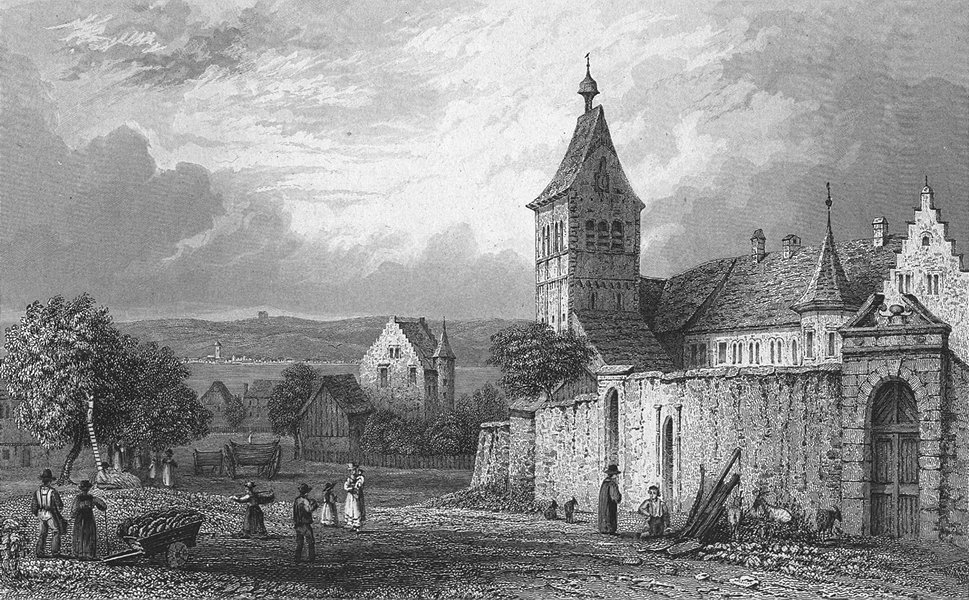 Associate Product GERMANY. Convent of Reuchenau. Tombleson Carts 1830 old antique print picture