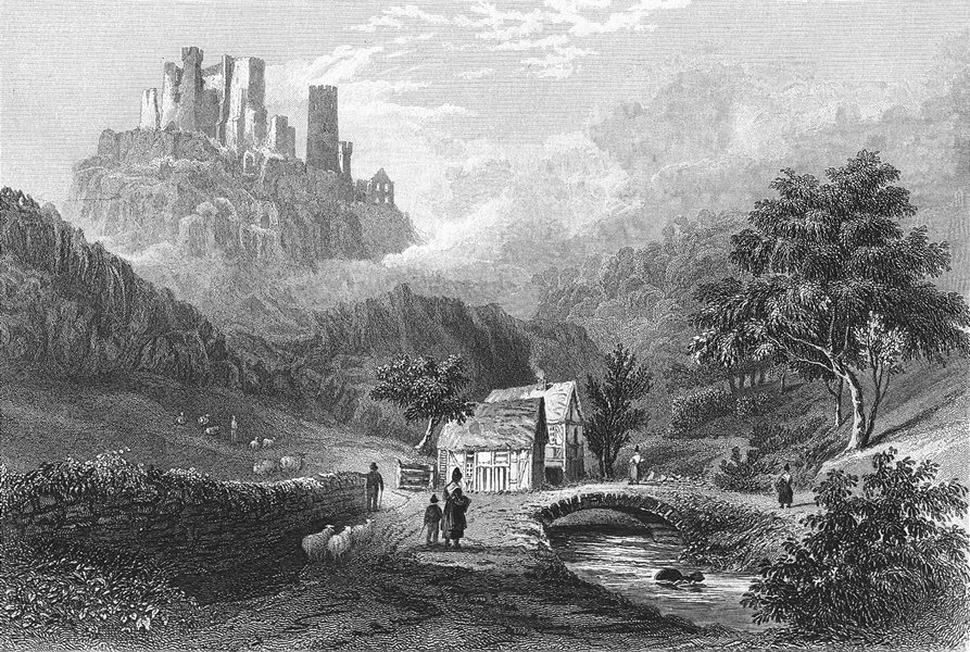 Associate Product GERMANY. Valley Engeholle ruins, Schonberg  1830 old antique print picture