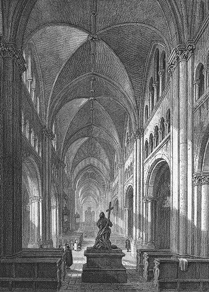 Associate Product GERMANY. Intr Bonn cathedral. Tombleson inside of 1830 old antique print