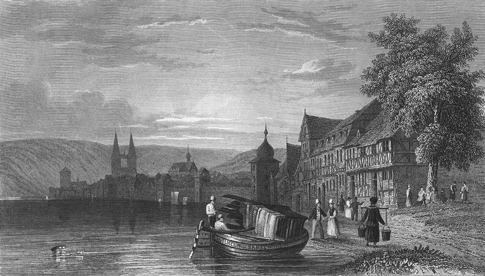 Associate Product GERMANY. Boppard. Tombleson St river 1830 old antique vintage print picture