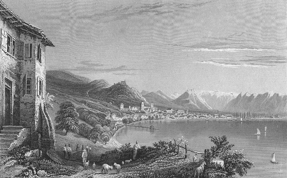 Associate Product GERMANY. Bregrenz, lake Constance. Bragrenz. goat 1830 old antique print
