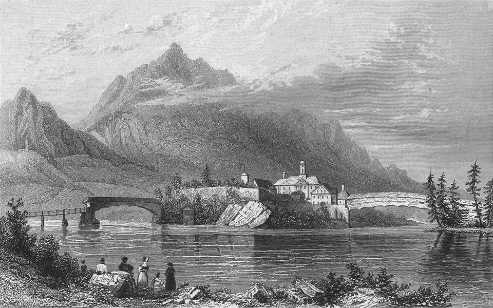 Associate Product GERMANY. Reichenau. Tombleson 1830 old antique vintage print picture