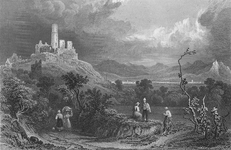 Associate Product GERMANY. Ruins, Godesberg. Tombleson ruins 1830 old antique print picture