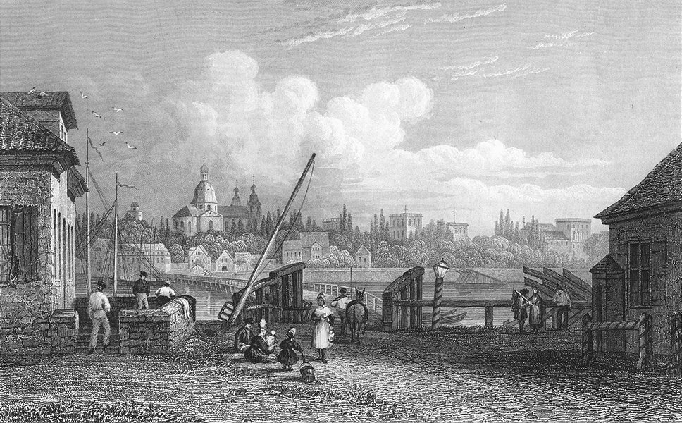 Associate Product GERMANY. Manheim. Tombleson bridge Horse 1830 old antique print picture
