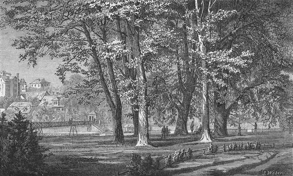 Associate Product ZURICH. Die Platz-Promenade. Weber 1879 old antique vintage print picture