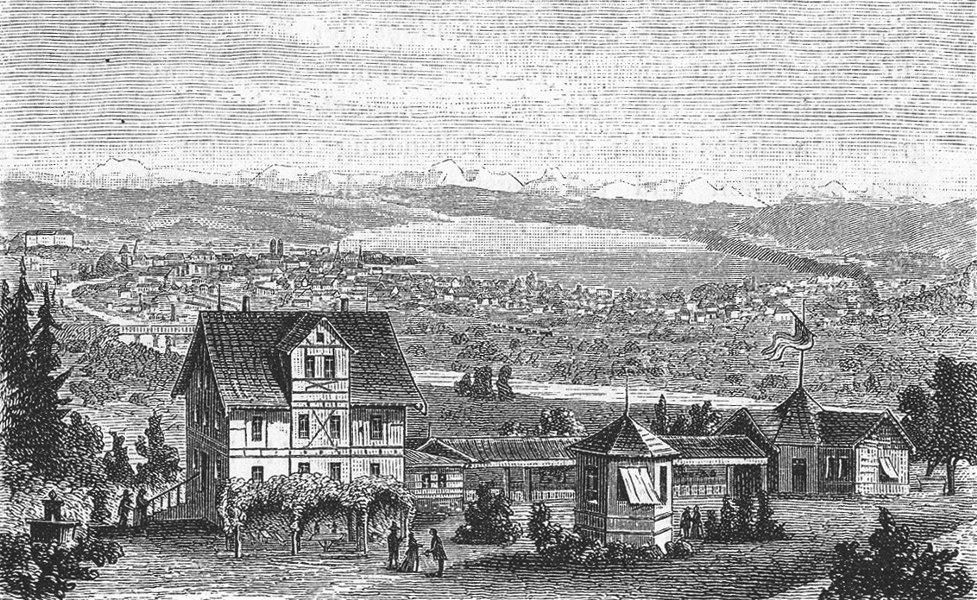 Associate Product ZURICH. Die Waid. Weber 1879 old antique vintage print picture