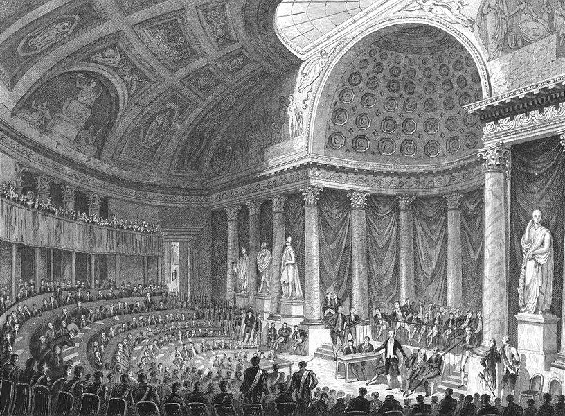 Associate Product PARIS. Chambre Pairs, Proces Polignac, Peyronnet  1834 old antique print