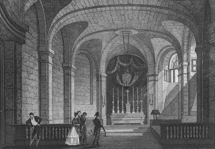 Associate Product FRANCE. Chapelle de jail Conciergerie. Pugin Paris 1828 old antique print