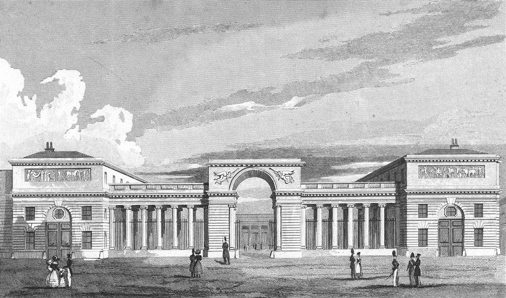 Associate Product PARIS. Palace of Legion Honour. Pugin Place Guard 1828 old antique print