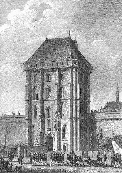 Associate Product VINCENNES. Porte d' Entree, Chateau. Paris Troops 1828 old antique print