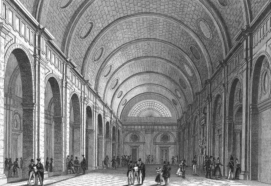 Associate Product PARIS. Salle Pas Perdus. France. Pugin elegant 1834 old antique print picture