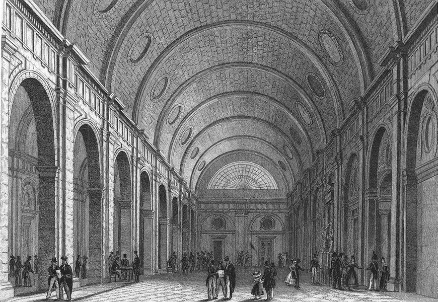 Associate Product PARIS. Salle Pas Perdus. France. Pugin elegant 1828 old antique print picture