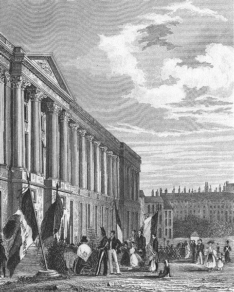 Associate Product PARIS. Tombeau. Consacre Memoire Ceux Perrient 1830 1828 old antique print
