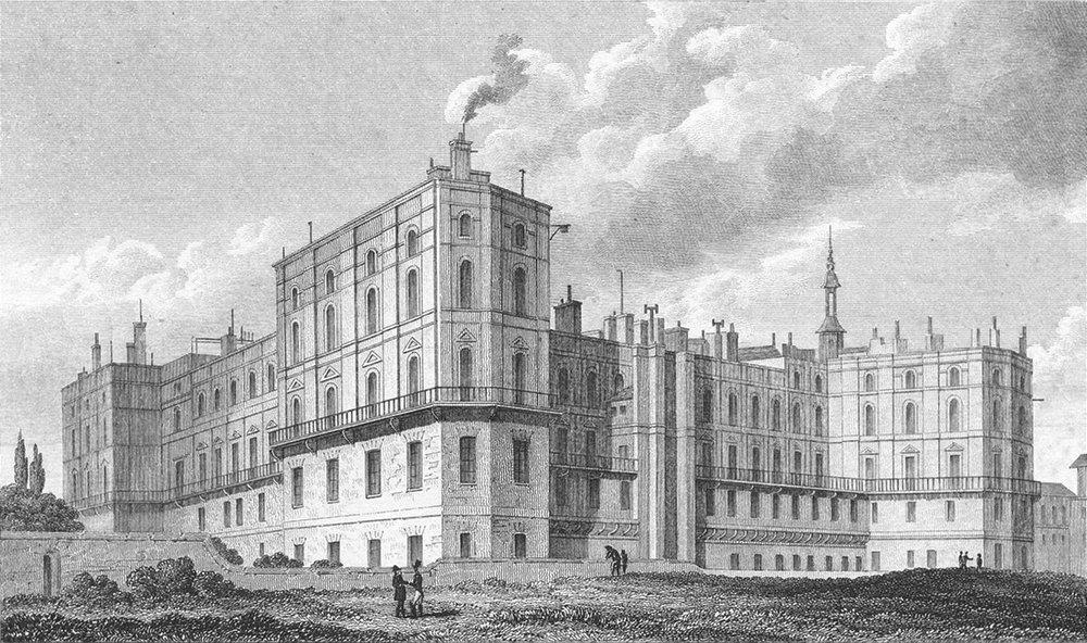 Associate Product FRANCE. Chateau St Germain En Laie. Pugin 1828 old antique print picture