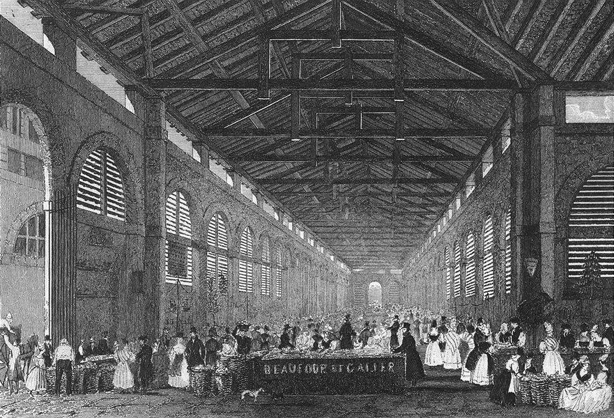 Associate Product FRANCE. Marche de St Germain. Pugin Paris print 1828 old antique picture