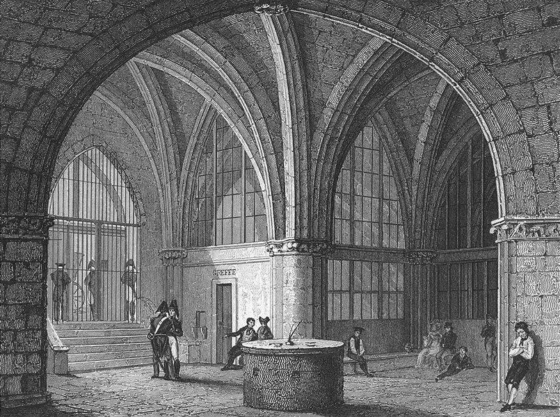 Associate Product PARIS. L'entree jail Conciergerie  1828 old antique vintage print picture