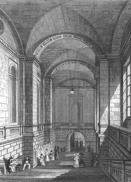 Associate Product PARIS. L'escalier Palais Justice  1828 old antique vintage print picture