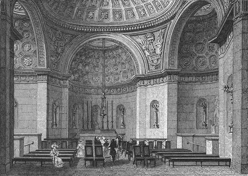 Associate Product PARIS. Chapelle Expiatoire Louis XVI. figure 1828 old antique print picture