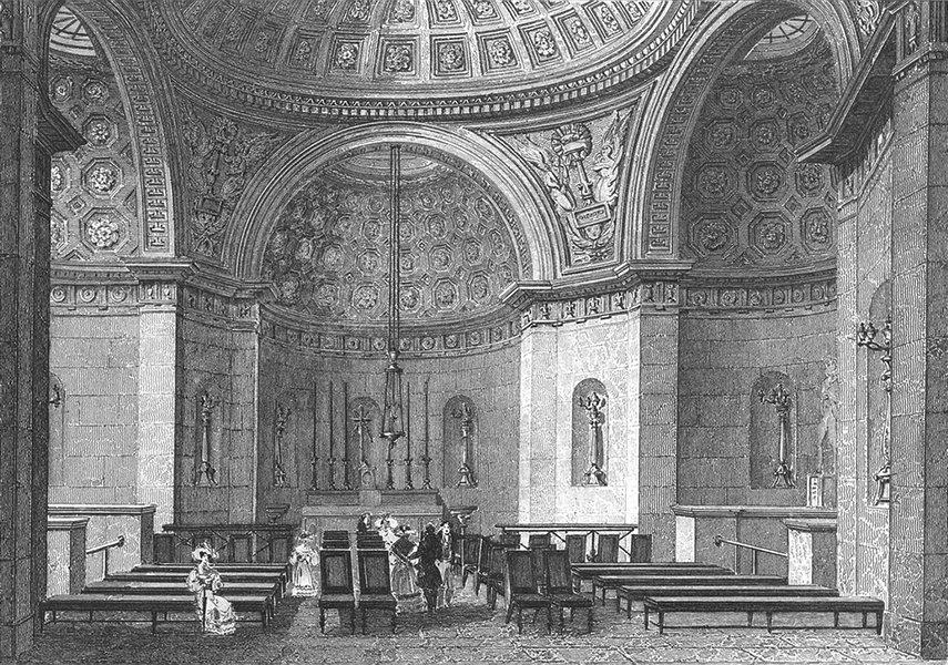 Associate Product PARIS. Chapelle Expiatoire Louis XVI. figure 1834 old antique print picture