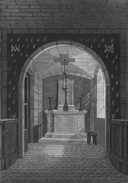 Associate Product PARIS. Chapelle Expiatoire, Conciergerie. Cross 1834 old antique print picture