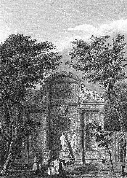 Associate Product PARIS. Chateau D'eau Jardin du Luxembourg. Pugin 1834 old antique print