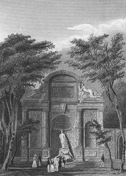 Associate Product PARIS. Chateau D'eau Jardin Luxembourg  1828 old antique vintage print picture