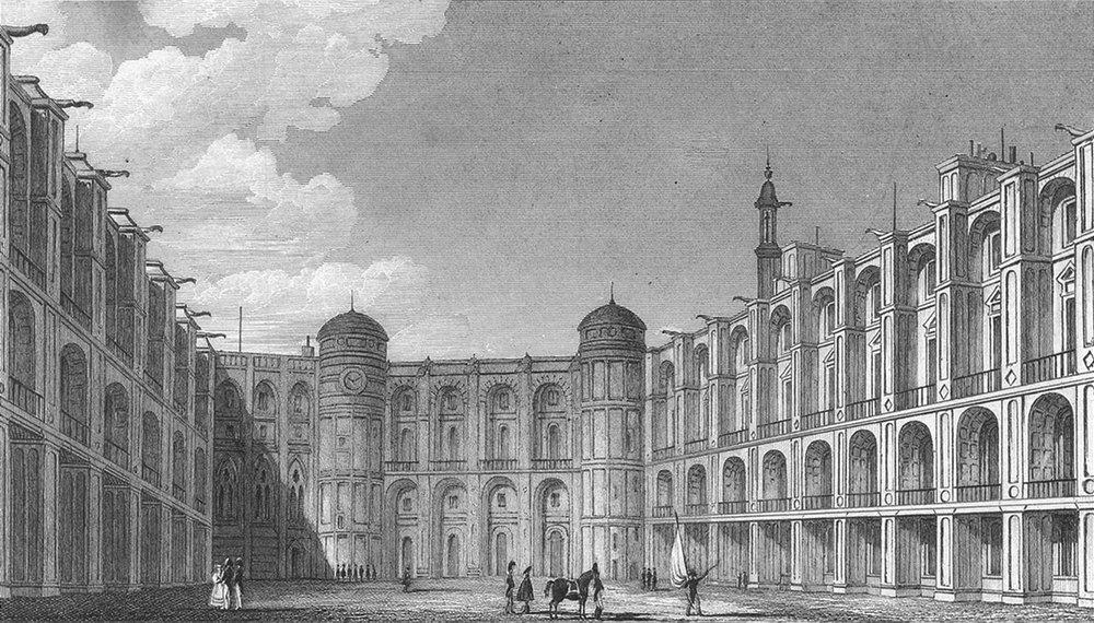 Associate Product ST GERMAIN. Cour Chateau-en-Laie. Paris  1828 old antique print picture