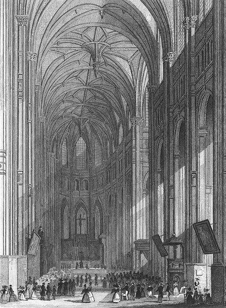 Associate Product PARIS. Eglise St Eustache. Eustace service 1834 old antique print picture